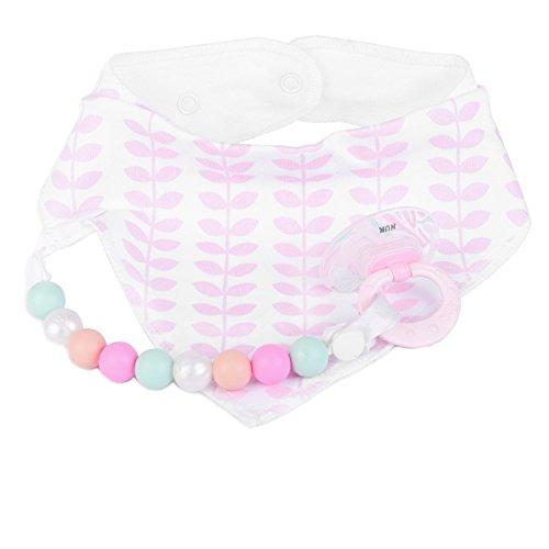 Baby-Lätzchen für Mädchen, 4er Pack Auslaufsichere Babylätzchen, Süße Lätzchen aus Weicher, Saugfähiger Baumwolle und Wasserundurchlässiger Auskleidung, Halten Sie Ihr Baby trocken - 5
