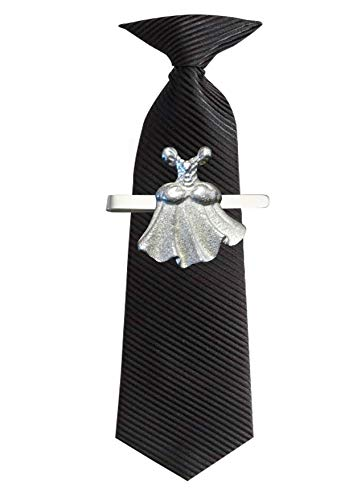 GIFTSFORALL FT416 Ballkleid, 2,6 x 2,8 cm, aus feinem englischen Zinn auf Krawattenklammer (Slide)