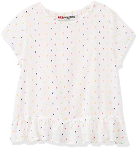 Marca Amazon - RED WAGON Camiseta de Lunares con Volante en la Espalda para Niñas