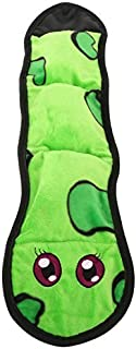 Pawaboo Squeak Plush Dog Toy, Stuffingless Plush Pet Toys Soft Boa Snake Style Pet Rattle and Squeak Sound Long Body Puppy Play Squeakers, Green and Yellow