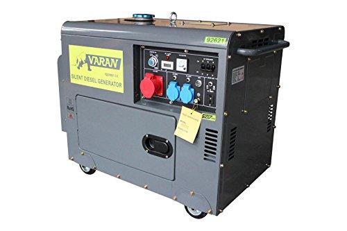 Varan Motors 92621 NOTSTROMAGGREGAT GENERATOR STROMAGGREGAT SCHALLISOLIERT 5,5kVA 400V+230V DIESEL