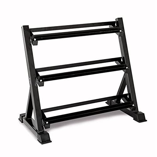 QASIMOF Bastidores de mancuernas para gimnasio, hogar, hierro negro, 3 niveles, resistente, para mancuernas en casa, gimnasio, pesas, soporte de almacenamiento (sin mancuerna)