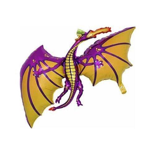 36 Zoll Purpurn Drache Hat Folieballon - Luft oder Helium Gestaltet