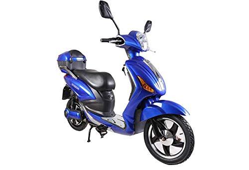Tecnobike Shop Scooter Bicicletta Elettrica a Pedalata Assistita Z-Tech ZT-09-CL 500w 48V - 20Ah Batteria a Litio (Blu)