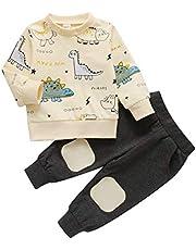 AKlamater - Juego de ropa para bebé (2 unidades), diseño de dinosaurio