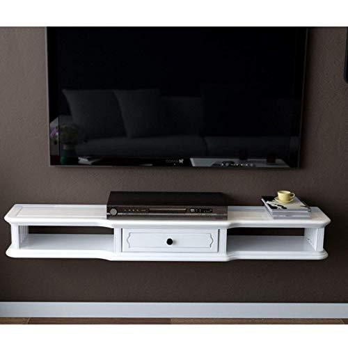 SFSGH Consola Multimedia de Pared para Reproductor de DVD BLU-Ray, Soporte de TV, decodificador de TV satelital, decodificador de Cable, Unidad de TV, Estante de Montaje en Pared con mar