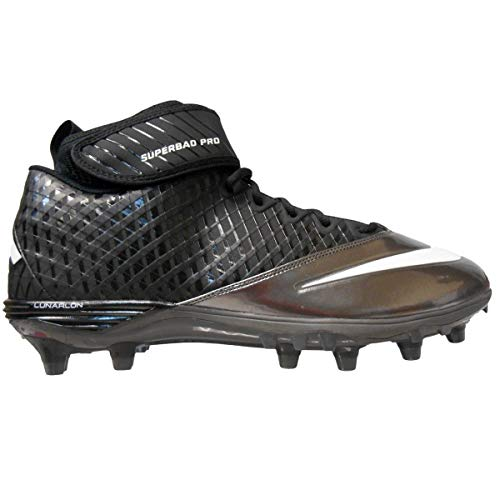 Nike Lunar Super Bad Pro TD Men's Football Cleats (12, Black/Metallic)