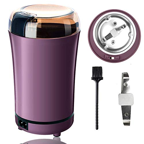 PARACITY Electric Coffee Grinder Grain Mill Portable Automatic Coffee Bean Grinder with Replacement Stainless Steel Blade for Dry Herb Spice Peanut Grains Beans