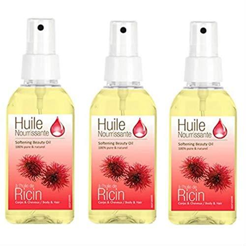 3 Sprays d'Huiles Cosmetique Huile de Ricin Préphar\