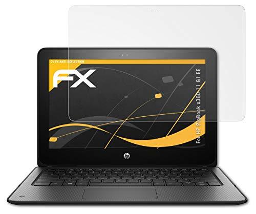 atFolix Panzerfolie kompatibel mit HP ProBook x360 11 G1 EE Schutzfolie, entspiegelnde & stoßdämpfende FX Folie (2X)