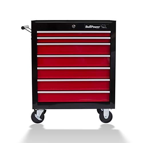 Werkstattwagen BullPower WW-700 mit 7 ausziehbaren Schubladen, abschließbar, auf Rädern, bis maximal 60kg, Werkzeugwagen - Montagewagen unbestückt leer