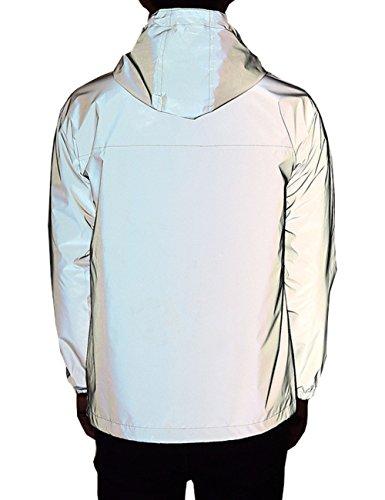 Women's Fully Reflective Jacket 3M Cycling Jacket (Asian L=US M, Grey)