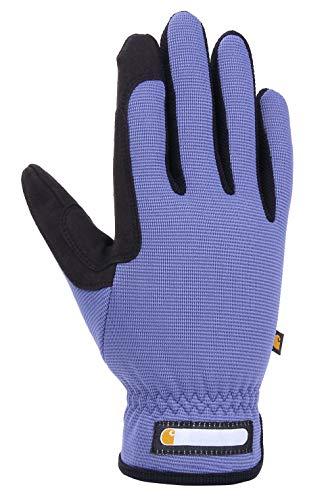 Carhartt Women's Work-Flex Breathable Spandex Work Glove, Blue Dusk Black, Medium