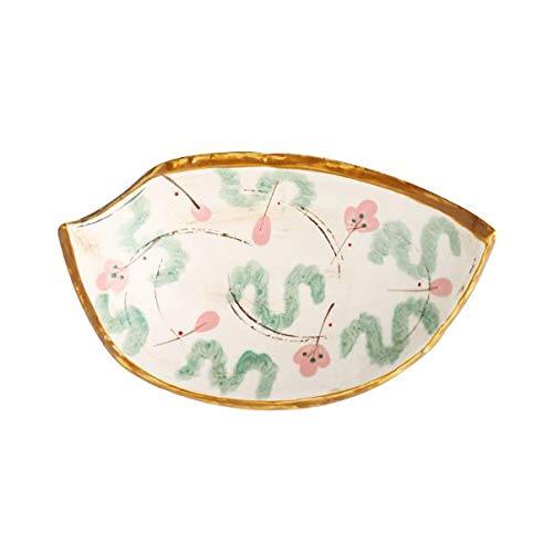 Retro baldosa cerámica Cuchara Desayuno Home Plate Placa Snack-retro estilo japonés de cocina Sushi Plato Restaurante Vajilla (Color : A)