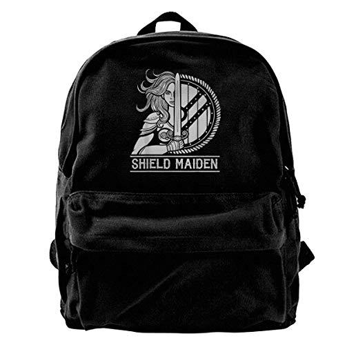 Yaxinduobao Fashion Classic Rucksack Viking Shield Maiden Female Warrior Girls Boys Backpacks Canvas Book Bags