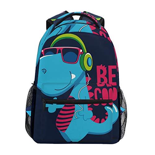 Zaino scolastico con dinosauri, grande capacità, in tela, stile casual, da viaggio, perfetto per donne, uomini, ragazze e ragazzi