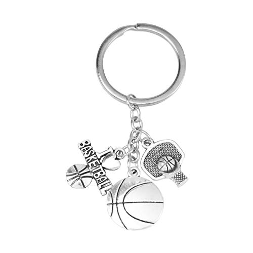 Toyvian Porte-clés de Basketball Sports Métal Pendentif pour Décoration Ornement Cadeau