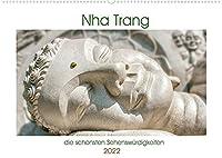 Nha Trang - die schoensten Sehenswuerdigkeiten (Wandkalender 2022 DIN A2 quer): Die beruehmten Tempel Long-Son und Po Nagar an der Kueste im suedlichen Vietnam. (Monatskalender, 14 Seiten )