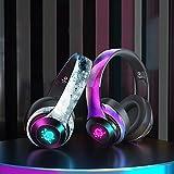 Auriculares Bluetooth Inalámbricos, Conectados Con Función De Tarjeta A Través De Bluetooth 5.0, Adecuados Para Llamadas De Voz De Adolescentes, Niños Y Adultos, Como Accesorios (Color:Color de tinta)