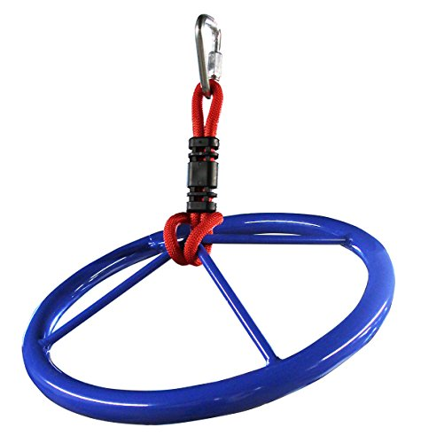 Slackers Ninja-Wheel - Outdoor Ninja Warrior Training Equipment For Kids - Easily Attaches To Your Ninjaline Obstacle Course - The Prefect Addition To Your Outdoor Play Equipment!