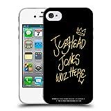Head Case Designs Licenciado Oficialmente Riverdale Jughead Wuz Here Negro Oro Jughead Jones Carcasa de Gel de Silicona Compatible con Apple iPhone 4 / iPhone 4S
