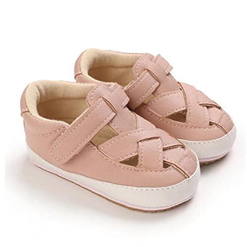 NIDONE Bebé Sandalias Antideslizante Suela de Goma PU Ligera Primero Que Caminan los Zapatos de Verano para los 3-6M Babys Rosa