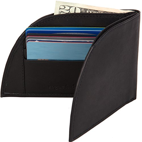 Front Pocket Wallet by Rogue Industries - Classic Wallet in Genuine Top Grain Leather - Black