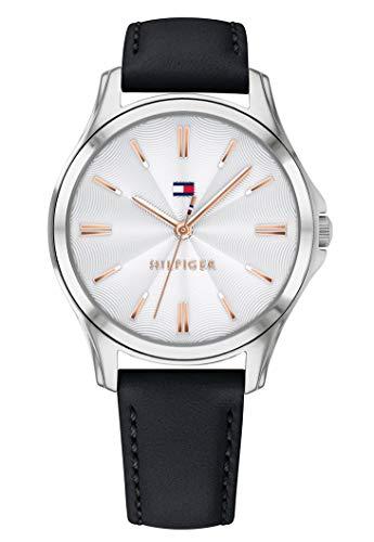 Tommy Hilfiger Damen Analog Quarz Uhr mit Leder Armband 1781953