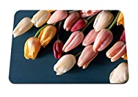 26cmx21cm マウスパッド (チューリップ花花束春) パターンカスタムの マウスパッド