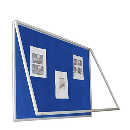 YaGFeng Albo Display Finestra Bar 120 * 120 cm Bollettino Bollettino Pubblicazione Colonna Messaggio Mobile Back Back Board BARCH Barra Adatto per Ufficio E Casa (Colore : Blu, Size : 120x120cm)