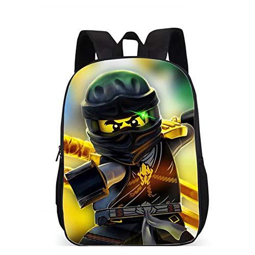 Kinderrucksäcke, Ninjago Tasche, Teens 3D Anime Rucksack Outdoor leichte tragen widerstandsfähig große Kapazität Satchel für 6-12 Jahre alte Kinder ninjago(2)-43 * 31 * 16CM