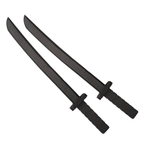 Katara 1771 (Plusieurs Modèles) Épée Noire en Mousse, Jouet Pour Garçons, Accessoire De Costume Ninja, Chevalier Ou Guerrier, 55cm Set De 2