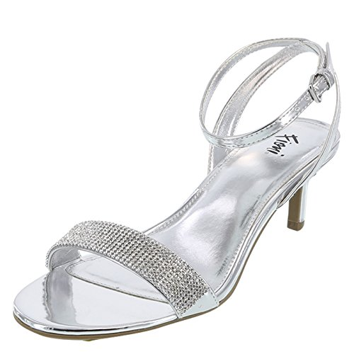Fioni Silver Women's Honey Low Heel 9.5 Wide