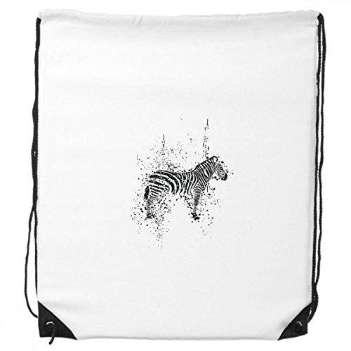 DIYthinker Mexicaanse Zebra eenvoudige zwart en wit trekkoord rugzak winkelen cadeau sport tassen