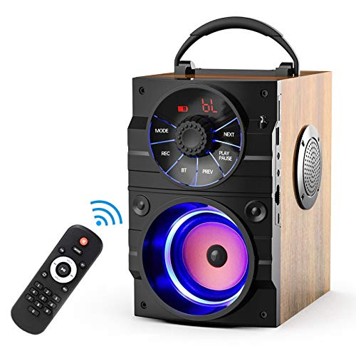 EIFER Portable Bluetooth Speaker Subwoofer Heavy Bass Wireless Outdoor Party Speaker MP3 Player Line in Speakers Support Remote Control FM Radio TF Card LCD Display for Home Party Phone (A9-2)