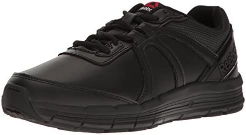 Reebok Mens Black Leather Work Shoes Oxford Guide