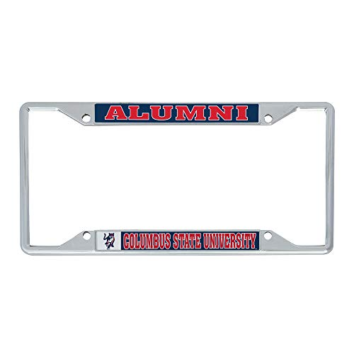 Desert Cactus Columbus State University Cougars NCAA Metal License Plate Frame for Front Back of Car Officially Licensed (Alumni)