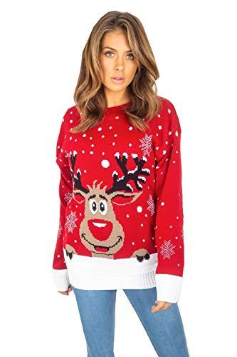 Divadames®Women's Reindeer Jumper Ladies Christmas...