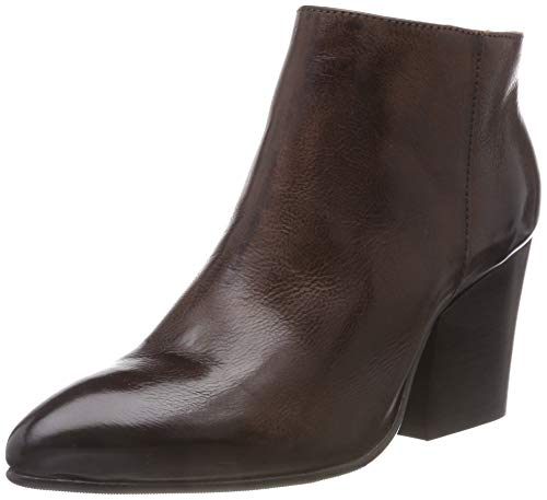 SELECTED FEMME Damen SLFAMBER Zip Leather Boot B Stiefeletten, Braun Decadent Chocolate, 38 EU