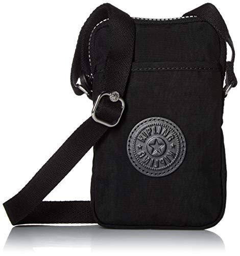 Kipling Tally Bag, Adjustable Crossbody Strap, Zip Closure, Black Tonal, One Size