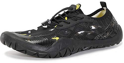 Gaatpot Escarpines de Surf para Mujer Hombre Zapatos de Playa Zapatos de Agua Barefoot Deporte Secado Rápido Yoga Aptitud Aire Libre Negro 42EU