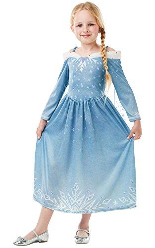 Rubie 's Disney Frozen Elsa kostuum, Olaf 's Frozen avontuur, kinderen pak Medium 5-6 Jahre, Height 116 cm blauw