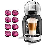 Dolce GUSTO MINI ME YYY3888FD • Macchina da caffè automatica 15 bar • Caffettiera espresso e altre bevande + regalo (Mini ME • Grigio + 8 Capsule)