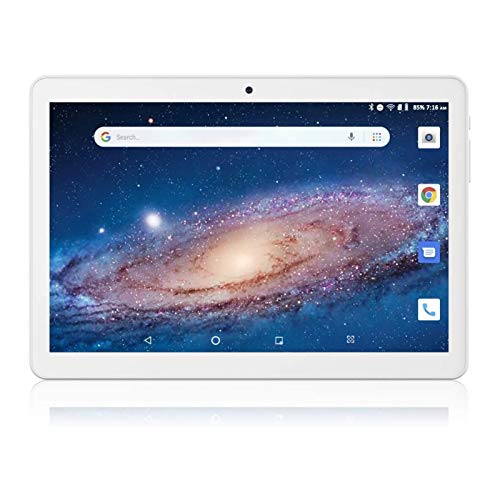 Android Tablet 10 Inch, 5G WiFi Tablet PC, Unlocked Phablet with Android 8.1 Go, Quad-Core Processor, 16GB Storage, Dual Cameras, Google Certified, 1280x800 IPS Display, Bluetooth, GPS- Silver