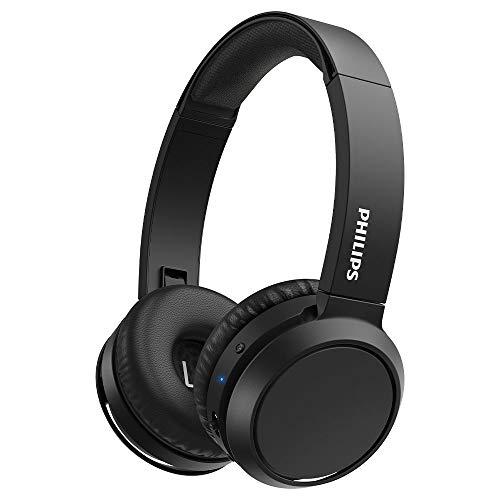 Philips H4205BK/00 Auriculares inalámbricos Bluetooth, On Ear (Bass Boost, 29 Horas de autonomía, Función de Carga rápida, Aislamiento acústico, Diseño Plegable) - Color Negro, Modelo de 2020/2021