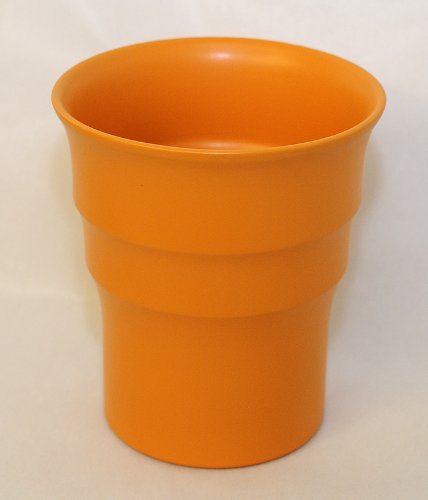 Pot Orchidée Diamètre 17 Cm Hauteur 20 Cm Orange