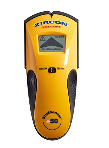 Zircon StudSensor e50 Electronic Wall Scanner / Edge Finding Stud Finder / Live AC WireWarning...