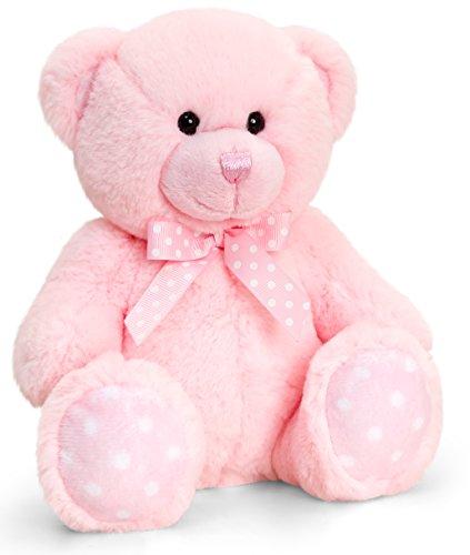 Lashuma Keel Baby Plüschtier Bär Groß in Rosa, Kuscheltier Teddy sitzend 35 cm