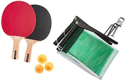 Dunlop AC Rage Championship Tischtennis-Set, 2 Schläger und 1 Netz