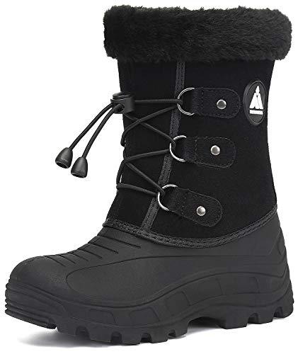 Mishansha Kinder Schneestiefel Mädchen Winterstiefel Warm Gefüttert Jungen Winterschuhe Snowboots Wasserdicht Winter Boots Outdoor Stiefel